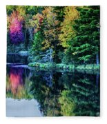 Fall Color Explosion Fleece Blanket