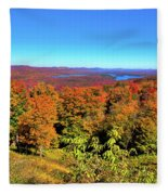 Fall Color On The Fulton Chain Of Lakes Fleece Blanket