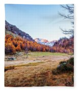 Fall Colors At Alpe Devero Fleece Blanket