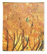 Fall Colors At Cape May Fleece Blanket