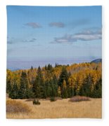 Fall Colors In The Inner Basin Fleece Blanket