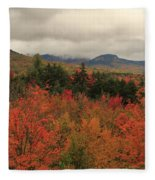 Fall Colors In White Mountains New Hampshire Fleece Blanket