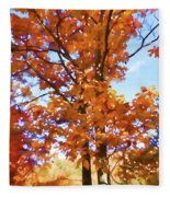 Fall Colors Looking Awesome Fleece Blanket
