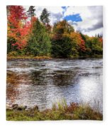 Fall Colors On The Moose River Fleece Blanket