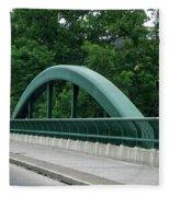 Fall Creek Gorge Bridge Cornell University Ithaca New York Fleece Blanket