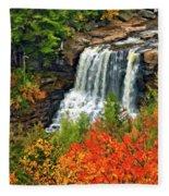Fall Falls Fleece Blanket