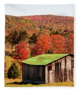 Fall Farm No. 6 Fleece Blanket