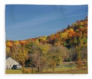 Fall Farmyard Fleece Blanket