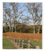 Fall Fence Fleece Blanket