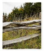 Fall Fencing Fleece Blanket