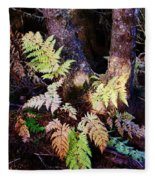 Fall Ferns Fleece Blanket