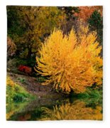 Fall Fireworks Fleece Blanket