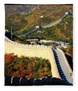 Fall Foliage At The Great Wall Fleece Blanket