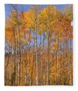 Fall Foliage Color Vertical Image Fleece Blanket