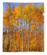 Fall Foliage Color Vertical Image Orton Fleece Blanket