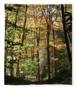Fall Forest 2 Fleece Blanket