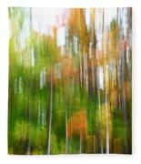 Fall Forest Colors Fleece Blanket