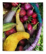 Fall Harvest Basket Fleece Blanket