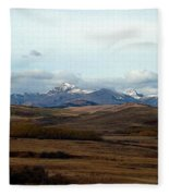 Fall Hills Rolling Towards The Mountains Fleece Blanket