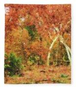 Fall Impression Fleece Blanket