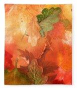 Fall Impressions V Fleece Blanket
