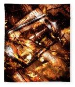Fall In Fire Fleece Blanket