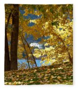 Fall In Kaloya Park 3 Fleece Blanket
