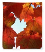 Fall In Love With Autum Fleece Blanket