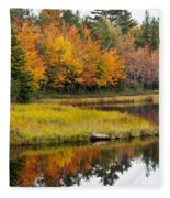 Maine Fall Fleece Blanket
