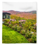 Fall In New Hampshire Fleece Blanket