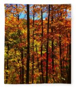 Fall In Ontario Canada Fleece Blanket