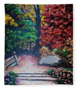 Fall In Quebec Canada Fleece Blanket