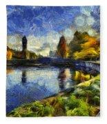 Fall In Riverfront Park Spokane Fleece Blanket