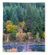 Fall In Spokane Fleece Blanket