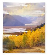 Fall In The Rockies Fleece Blanket