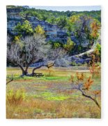 Fall In The Texas Hill Country Fleece Blanket
