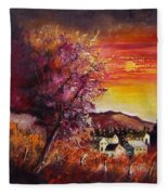 Fall In Villers Fleece Blanket