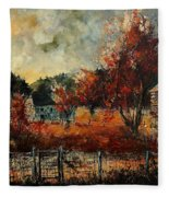 Fall In Vivy Fleece Blanket