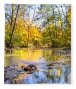 Fall In Wisconsin Fleece Blanket by Steven Santamour
