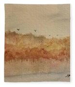 Fall Lake Fleece Blanket