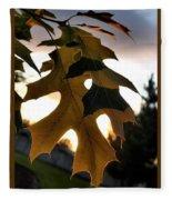 Fall Leaf Fleece Blanket
