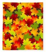Fall Leaves Quilt Fleece Blanket