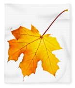 Fall Maple Leaf Fleece Blanket