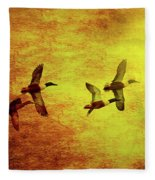 Fall Migration . Northern Shovelers . Texture . 40d5393 Fleece Blanket