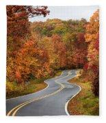 Fall Mountain Road Fleece Blanket