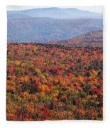 Fall Mountains #3 Fleece Blanket