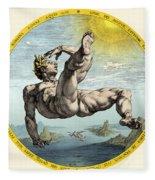 Fall Of Icarus, Greek Mythology Fleece Blanket