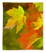 Fall Of Leaf Fleece Blanket