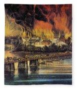 Fall Of Richmond, 1865 Fleece Blanket