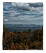 Fall On The All American Road Fleece Blanket